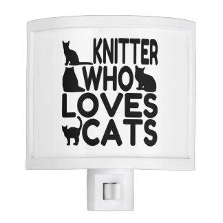 Calcetero que ama gatos lámpara de noche