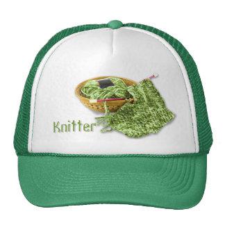 Calcetero - teja a mano el hilado verde de la felp gorras
