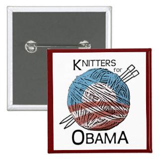 Calceteros para el botón #3 de Obama Pin Cuadrado