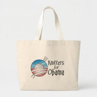 Calceteros para Obama, tote Bolsa Tela Grande