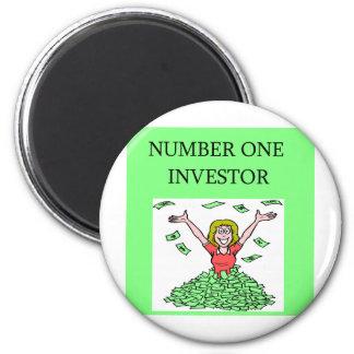 calcetín de Wall Street, inversor del arket Imán Redondo 5 Cm