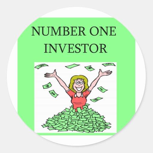 calcetín de Wall Street, inversor del arket Etiqueta Redonda