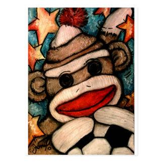 Calcetín-er mono tarjeta postal