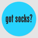 ¿calcetines conseguidos? etiquetas redondas