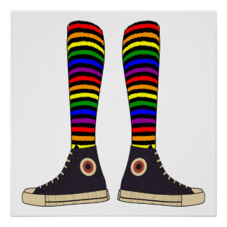 Calcetines de LGBT Póster
