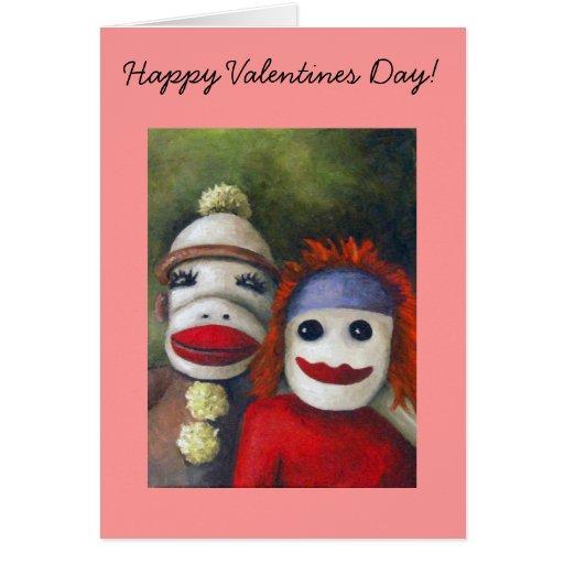 ¡Calcetines del amor, día de San Valentín feliz! Tarjeta De Felicitación