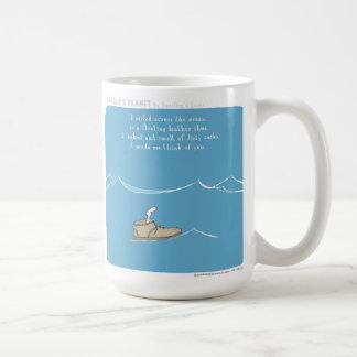 Calcetines del zapato del océano del planeta de taza de café