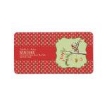 Calcetines lindos del duende y del navidad etiqueta de dirección