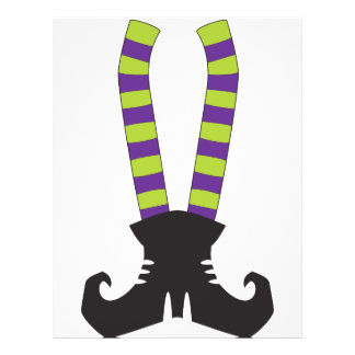"Calcetines rayados de Witchy Folleto 8.5"" X 11"""