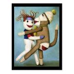 Calcetines sucios que bailan el tango tarjetas postales