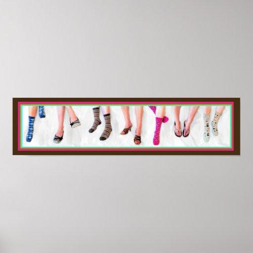 Calcetines y panorama de los zapatos póster