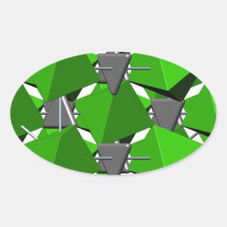 Calcite molecule oval sticker