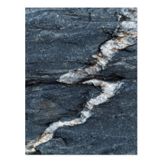 Calcite veins in tectonized black clay shales postcard