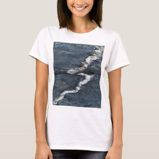 Calcite veins in tectonized black clay shales T-Shirt