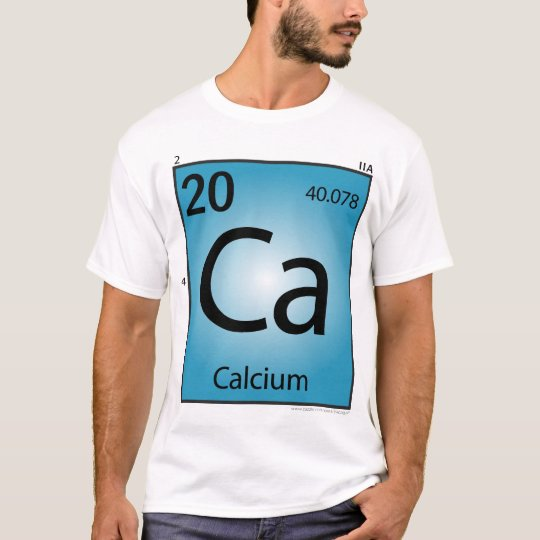 Calcium (Ca) Element T-Shirt - Front Only