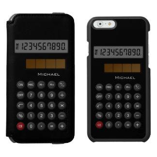 Calculadora de la escuela vieja funda cartera para iPhone 6 watson