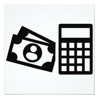 "Calculadora del asesor fiscal invitación 5.25"" x 5.25"""
