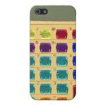 Calculadora Jeweled retra iPhone 5 Protectores