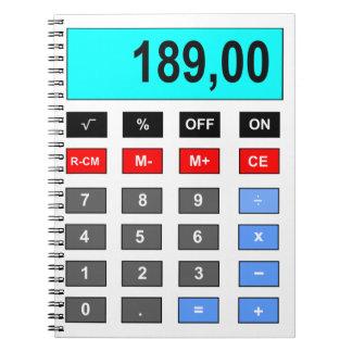 calculadora libreta espiral