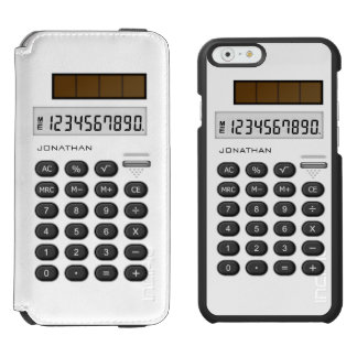 Calculadora retra blanca funda cartera para iPhone 6 watson