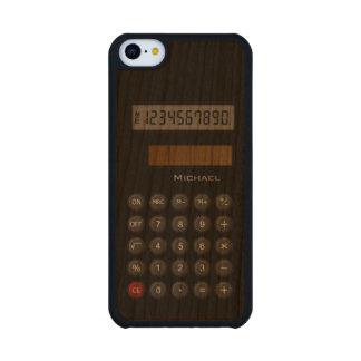 Calculadora retra funda de iPhone 5C slim cerezo