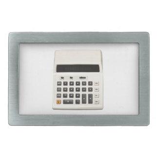 Calculadora retra hebilla de cinturon rectangular