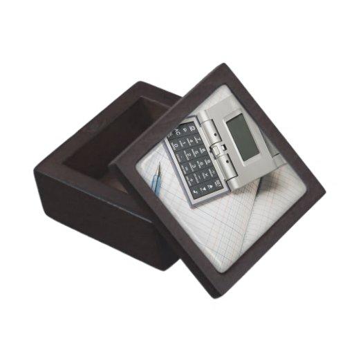 Calculadora y libro mayor (3) caja de regalo de calidad