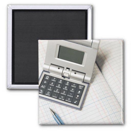 Calculadora y libro mayor (3) iman para frigorífico
