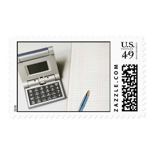Calculadora y libro mayor sellos