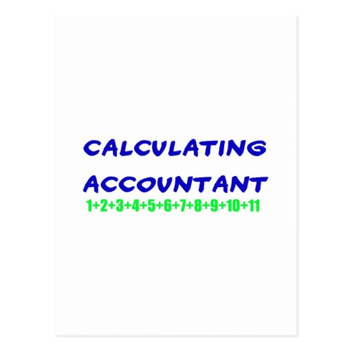 Calculating Accountant Postcard