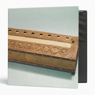 Calculating machine invented by Blaise Pascal 3 Ring Binder