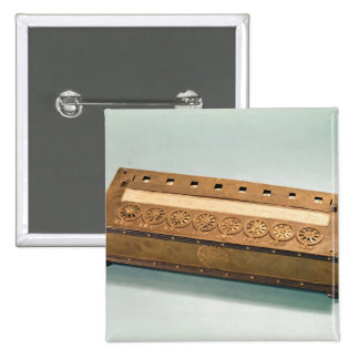 Calculating machine invented by Blaise Pascal Pinback Buttons