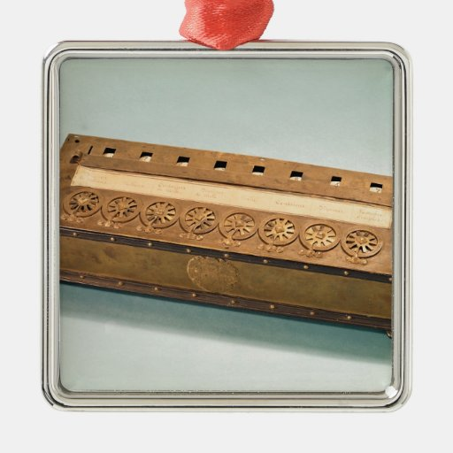Calculating machine invented by Blaise Pascal Christmas Ornament