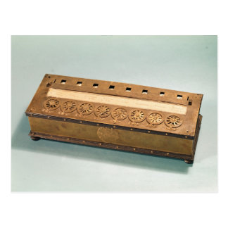 Calculating machine invented by Blaise Pascal Postcard