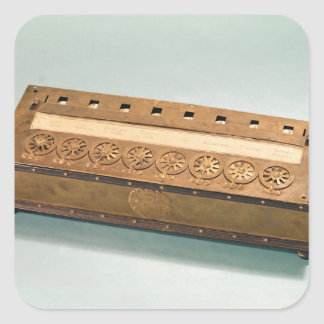 Calculating machine invented by Blaise Pascal Square Sticker