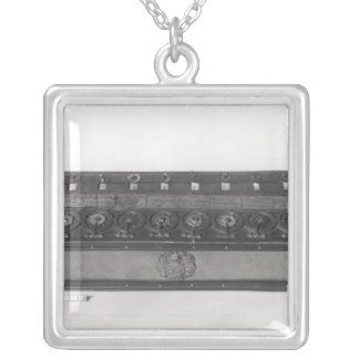Calculating Machine invented Silver Plated Necklace