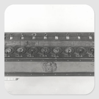 Calculating Machine invented Square Sticker