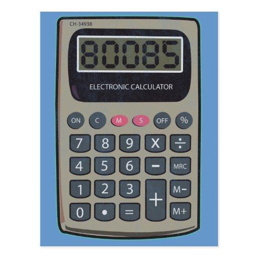 Calculator, 80085 postcard