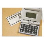 Calculator and Ledger (2) Card