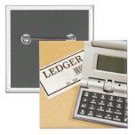 Calculator and Ledger (2) Pinback Button
