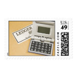 Calculator and Ledger (2) Postage Stamp