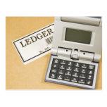 Calculator and Ledger (2) Postcard