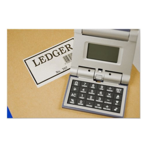 Calculator and Ledger (2) Poster