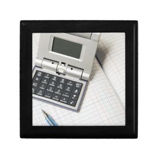 Calculator and Ledger (3) Jewelry Box