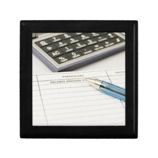 Calculator and Ledger (5) Jewelry Box