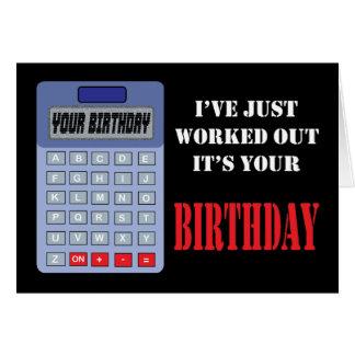 Calculator Birthday Card