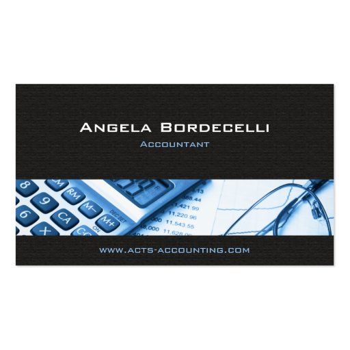 Calculator Blue Accounting Business Card