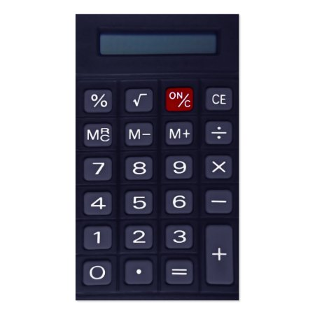 Blue Calculator Accountant Business Cards