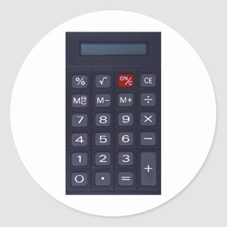 calculator classic round sticker