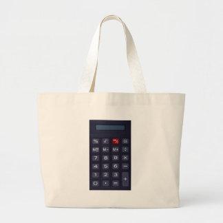 calculator large tote bag
